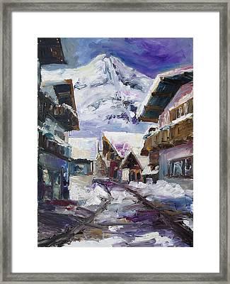 Schattberg Austrian Alps Framed Print by Barbara Pommerenke
