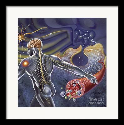 Bipolar Digital Art Framed Prints