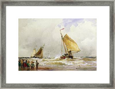 Schevenegen Beach Framed Print by Thomas Hardy