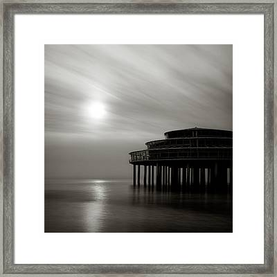 Pier Sunset Framed Print by Dave Bowman