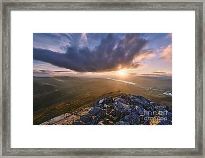 Schiehallion Sunset Framed Print by Rod McLean