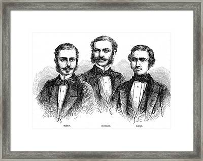 Schlagintweit Brothers Framed Print by Collection Abecasis