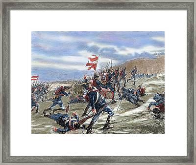 Schleswig-holstein Question. The First Schleswig War Or Three Years War 1848-1851. Fighting Framed Print by Bridgeman Images