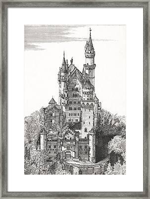 Schloss Neuschwanstein  Framed Print by John Simlett