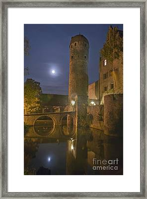 Schloss Sommersdorf By Moonlight Framed Print