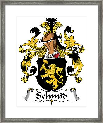 Schmid Coat Of Arms German Framed Print by Heraldry