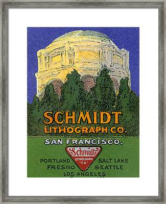 Schmidt Lithograph  Framed Print by Cathy Anderson