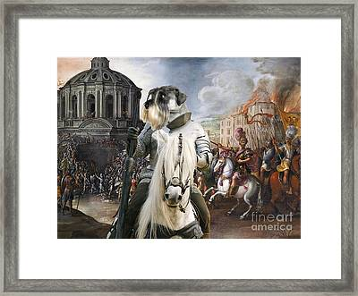 Schnauzer Art - A Siege The Sack Of Rome   Framed Print
