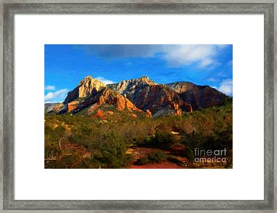 Schnebly Hill View - Oil Framed Print by Jon Burch Photography