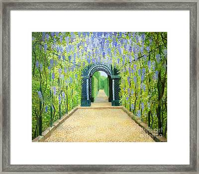 Schoenbrunn In Vienna The Palace Gardens Framed Print by Kiril Stanchev