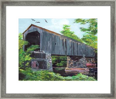 Schofield Covered Bridge Framed Print