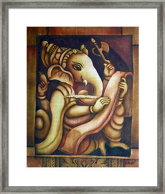 Scholar Ganesh Framed Print
