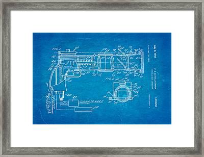 Schollhammer Electron Beam Gun Patent Art 1968 Blueprint Framed Print by Ian Monk