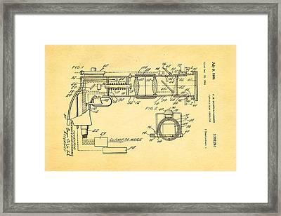 Schollhammer Electron Beam Gun Patent Art 1968 Framed Print by Ian Monk