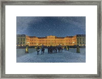 Schonbrunn Christmas Market Framed Print by Joan Carroll