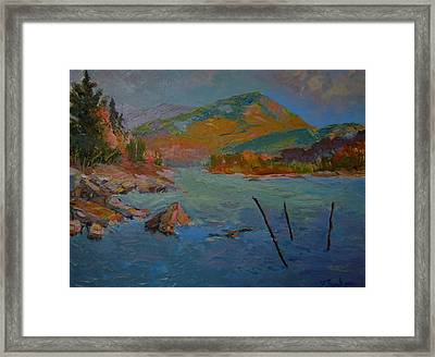 Schoodic Mountain On Egypt Bay Framed Print