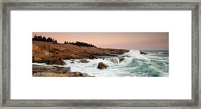 Schoodic Point - Acadia National Park Framed Print by Patrick Downey