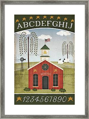 School Abc Framed Print by Jennifer Pugh