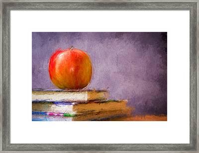 School Apple Framed Print by Georgiana Romanovna