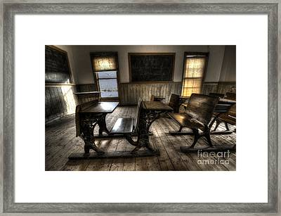 Historic School Bannack Montana 1 Framed Print by Bob Christopher