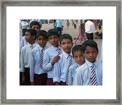 School Boys Framed Print