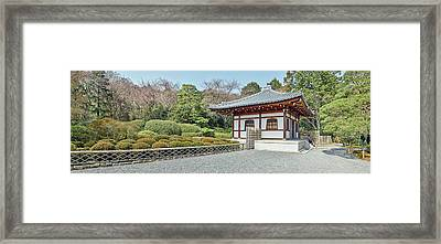 School Building In Ryoan-ji Temple Framed Print by Panoramic Images