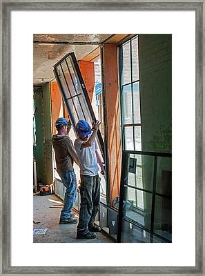 School Building Renovation Framed Print