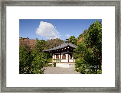 School Building Ryoan-ji Temple Kyoto Framed Print by Colin and Linda McKie