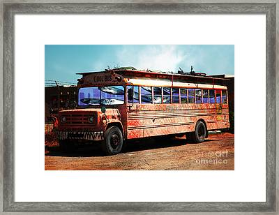 School Bus 5d24927 Framed Print