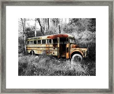 School Bus Framed Print by Steven Michael