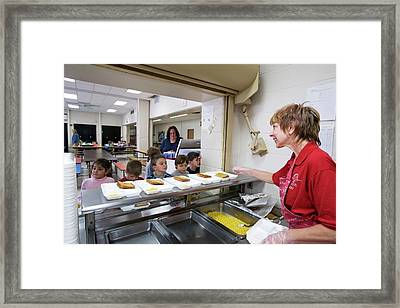 School Cafeteria Framed Print by Jim West