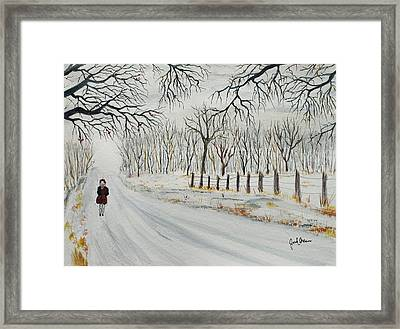 School Closed Early Today Framed Print by Jack G  Brauer