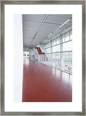 School Corridor Framed Print by Gustoimages/science Photo Library