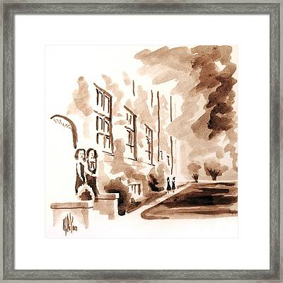 School Days At Ursuline Framed Print by Kip DeVore