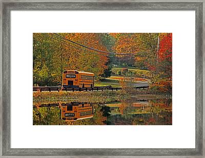 School Days Of Autumn Framed Print by Karol Livote
