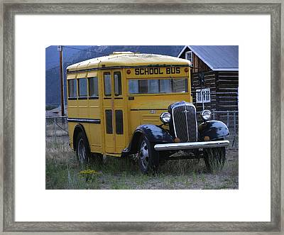 School Days Framed Print by Steven Parker