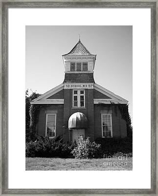 Framed Print featuring the photograph School House by Michael Krek