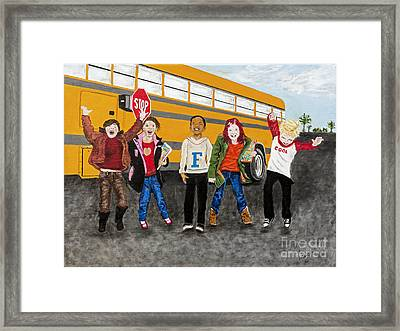 School Is Out By Barbara Heinrichs Framed Print by Sheldon Kralstein