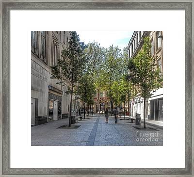 School Lane Framed Print by Joan-Violet Stretch