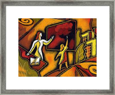 School Framed Print by Leon Zernitsky