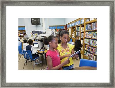 School Library Framed Print