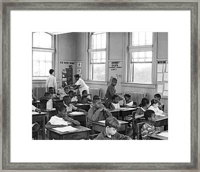 School Lunch Program Framed Print