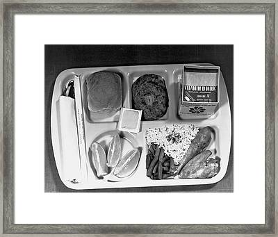 School Lunch Tray Framed Print by Underwood Archives