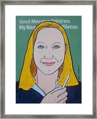 School Marm Framed Print