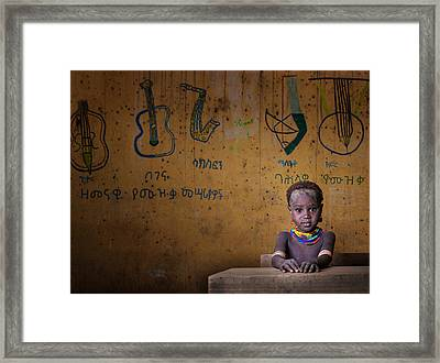 School Framed Print by Mohammed Al Sulaili