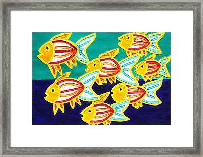 School Of Fish Framed Print by Matthew Brzostoski