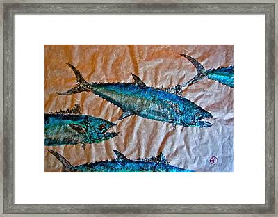 School Of Mackerel - Spanish Invasion Framed Print by Jeffrey Canha