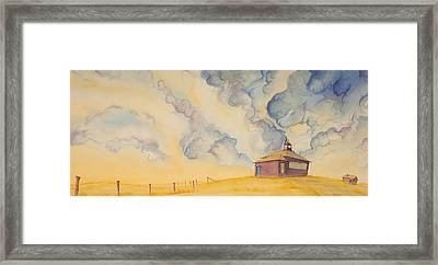 School On The Hill Framed Print by Scott Kirby