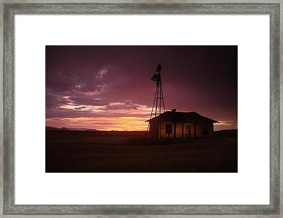 School Sunset Framed Print by Dave Bower