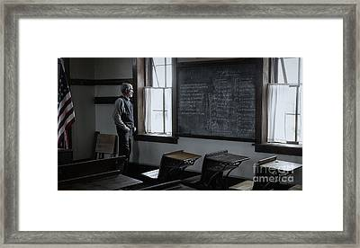 School Teach At Lower Fox Creek School In Kansas Framed Print by Keith Kapple